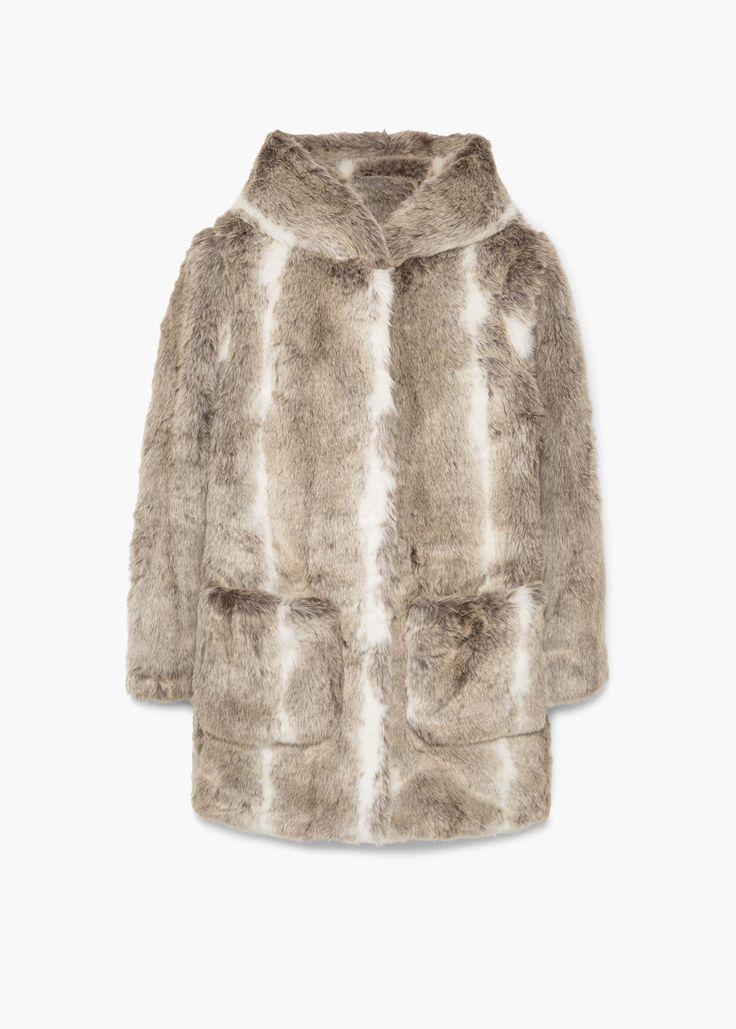 Manteau fourrure synthétique | MANGO