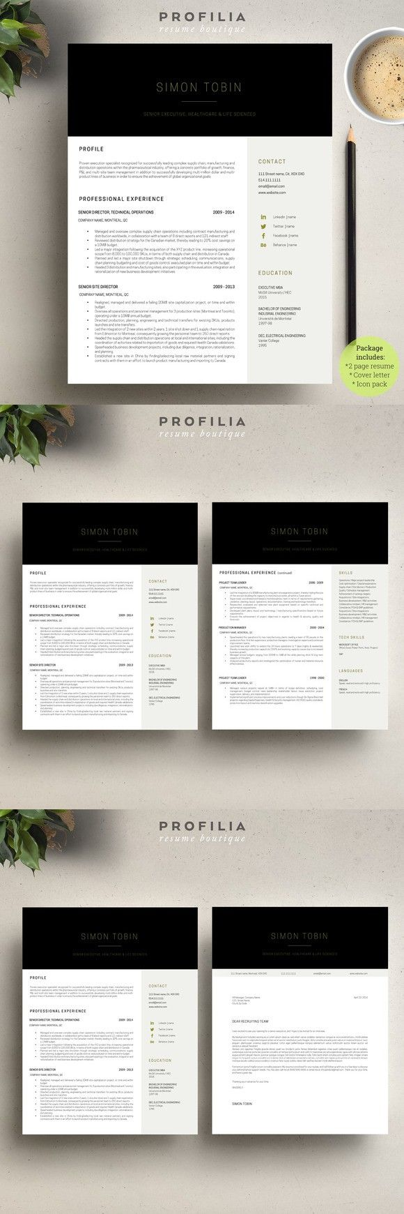 Word Resume u0026 Cover letter Template 127