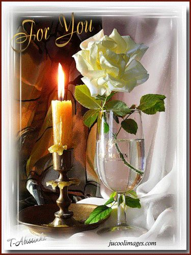 For You flowers animated rose hugs hello candle friend