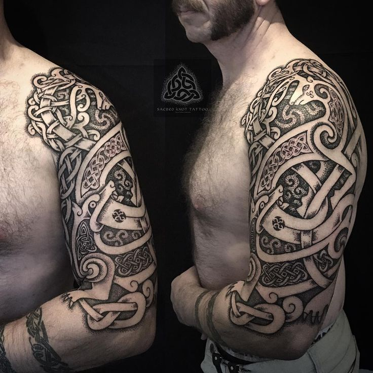 Norse knotwork tattoo images for Did vikings have tattoos