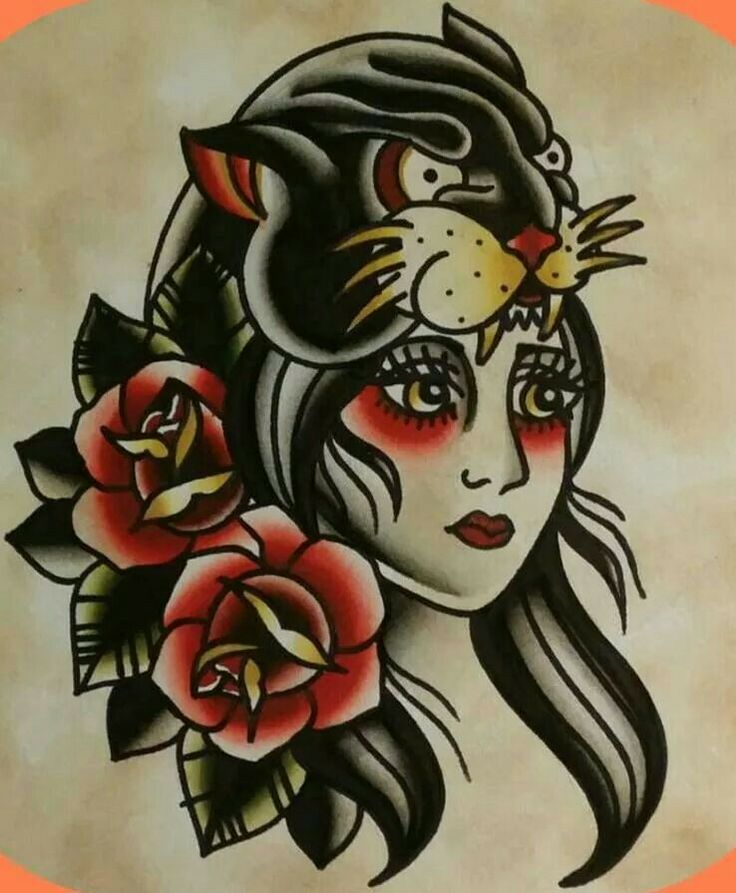Traditional tattoo design
