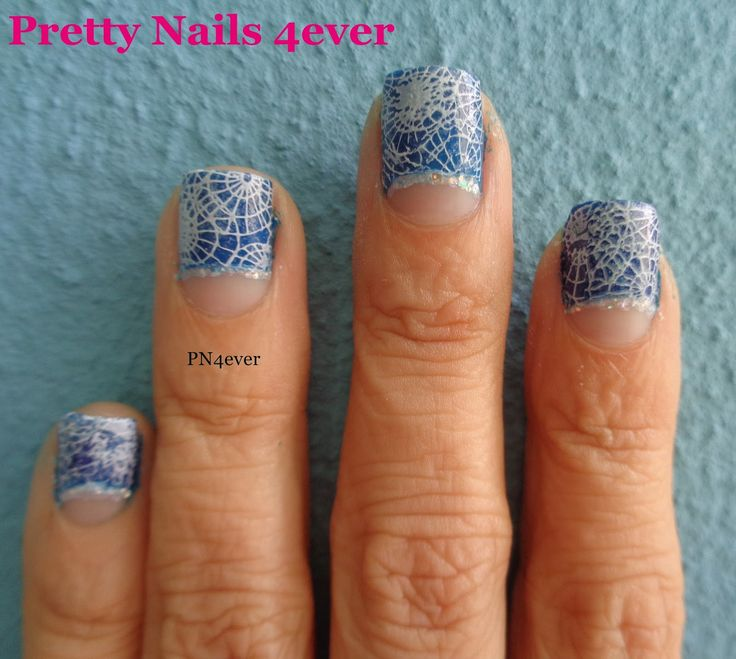 Pretty Nails 4ever - Blue Half Moon Nails - hēhē 024