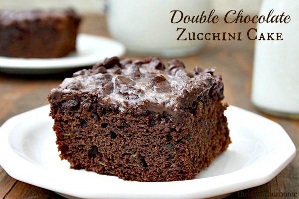 Double Chocolate Zucchini Cake (she: Tanna) www.oneshetwoshe.com #recipes #cake #desserts