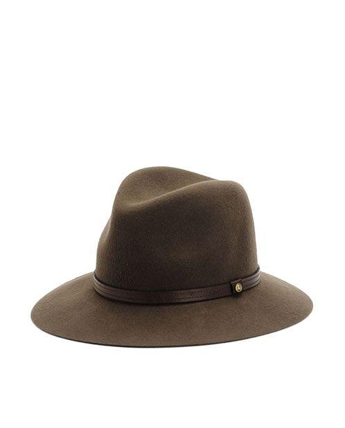 rag & bone Official Store, Floppy Brim Fedora - Pecan, pecan fl, Womens : Accessories : Hats, W000129AC