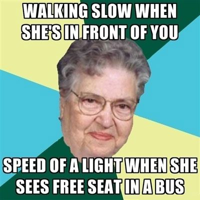 Typical old woman
