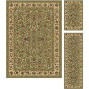 Alise Rugs Alise Lagoon Green Traditional Area Rugs (Set of 3)