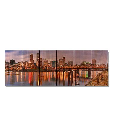Look what I found on #zulily! City Skyline Inside/Outside Wall Art #zulilyfinds