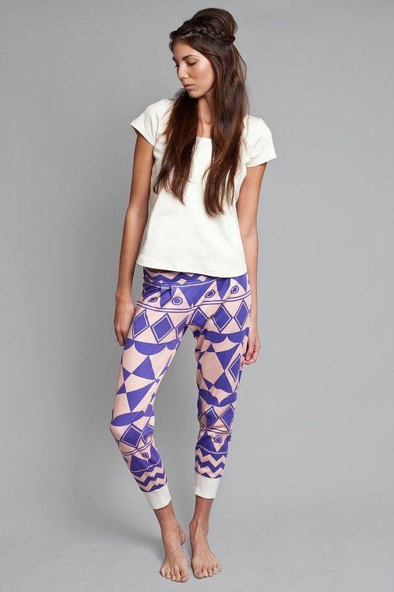 Organic Cotton Blue Aztec Pyjama Pants Size Small op Etsy, 49,44 €