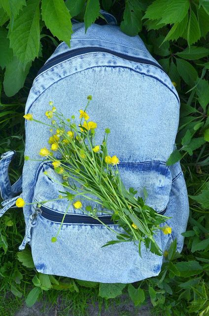 МОМЕНТЫ: рюкзак с цветами