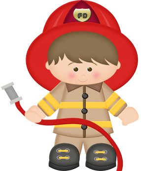 Brown haired fireman