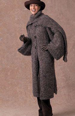 Coats, Free pattern and Knitting patterns on Pinterest