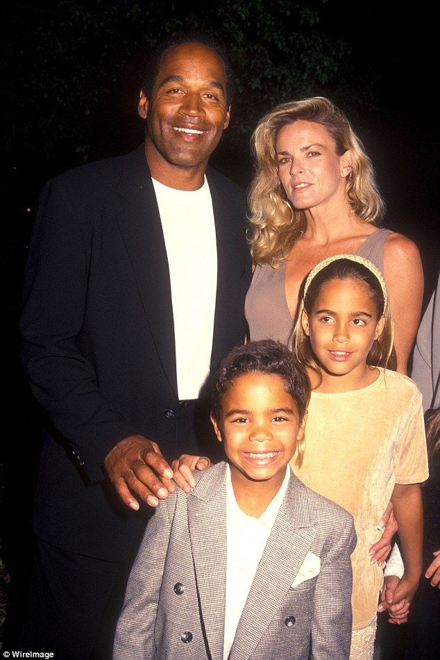 OJ Simpson married Nicole Brown in February 1985. A little more than eight months later, Sydney was born. The couple also had a son together, Justin Ryan Simpson, who was born in 1988. The family pictured attending a film premiere together in 1994 - two years after Nicole filed for divorce