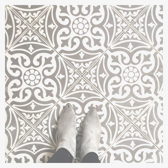 Tweeford Grey Vintage Moroccan Victorian Encaustic Style Wall Floor Tiles