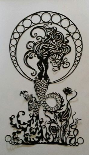 Mermaid+Papercut+Template+DIY+Digital+Download+by+CalicoCuts