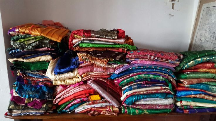 Some of my 2000 previously loved saree stock. Wonderful for making floaty kaftans and bohemian draping