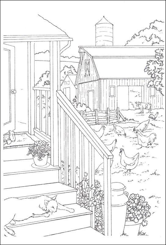 Coloring Page Haunted House Pages Adult To Print Free