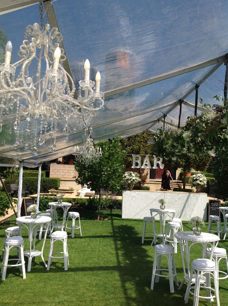 Clear Roof Marquee Wedding