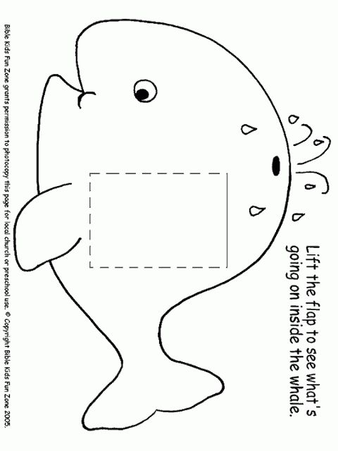 29 best jonah and the whale crafts images on pinterest | whale ... - Jonah Whale Coloring Page