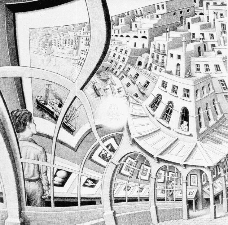 Prentententoonstelling โดย M.C. Escher 1956