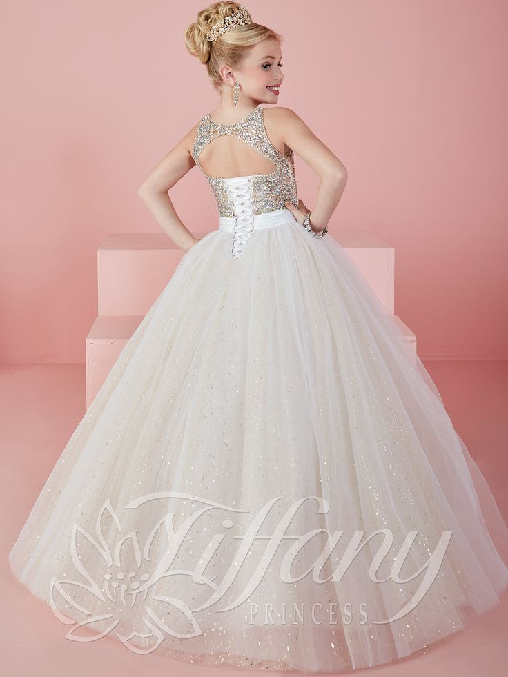 Tiffany Princess 13476 Illusion Jewel Neckline Pageant Dress