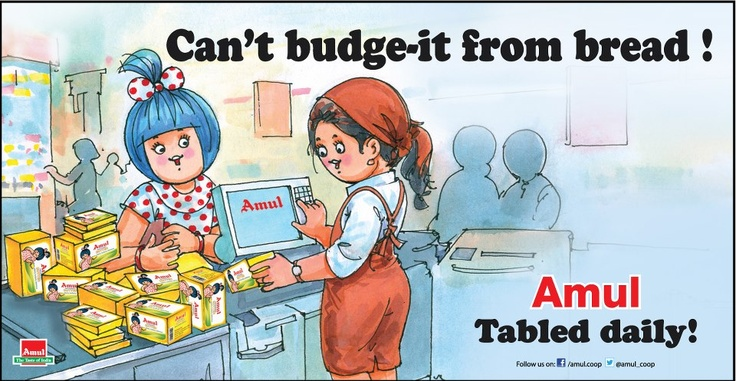 Budgets come..budgets go....but Amul butter never budges