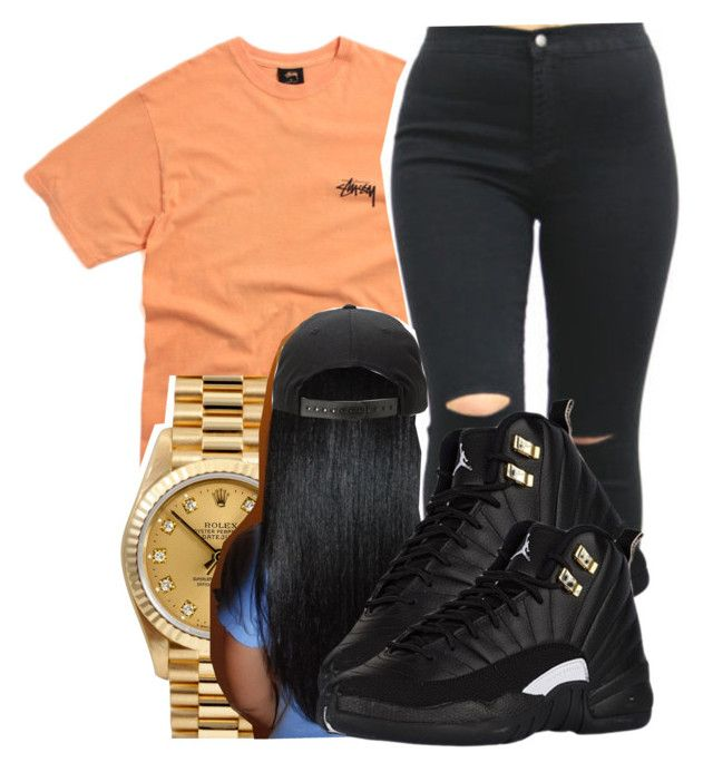 """Stussy✨"" by maiyaxbabyyy ❤ liked on Polyvore featuring Stussy and Rolex"