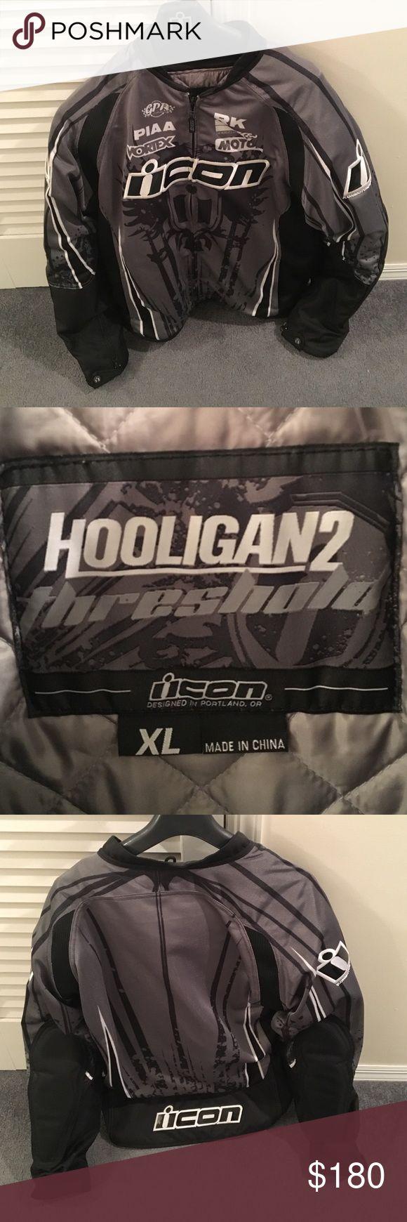 Lightly worn no damage- like new Icon hooligan2 motorcycle jacket size-Xl ICON Jackets & Coats Performance Jackets