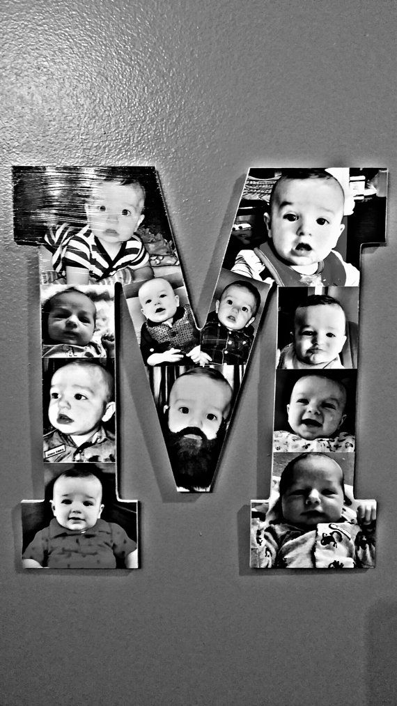 Wooden Letter Picture Collage by HeathPhotoCollage on Etsy