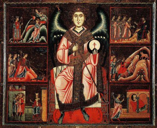 Coppo di Marcovaldo (1225-1275)  Archangel Michael and his legend