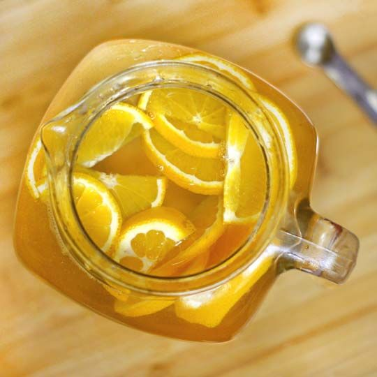 orange vanilla infused water