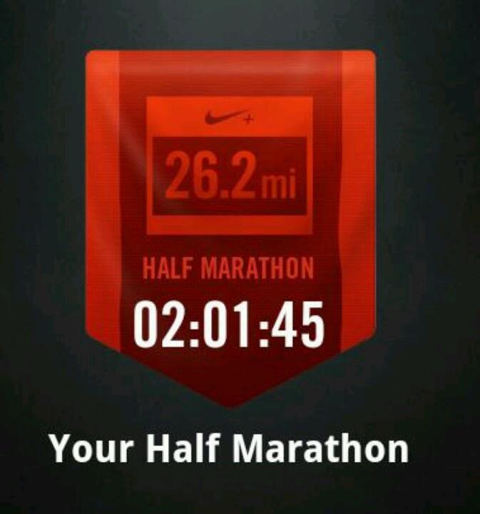 My first half marathon! Nov. 4th, 2012