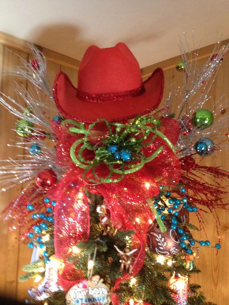Cowboy Christmas tree topper