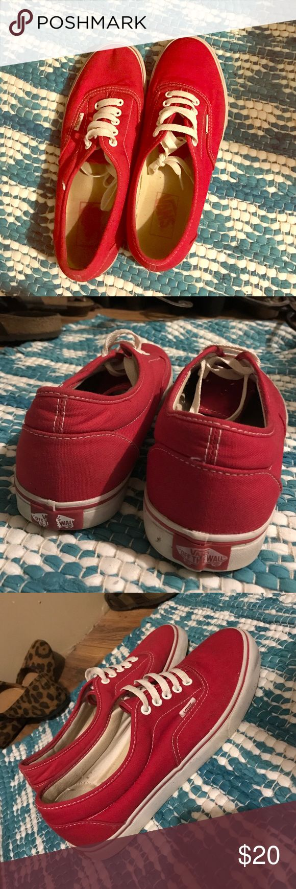 Red Vans Barely worn.. like new shoes Vans  Shoes Sneakers
