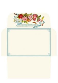 Friday freebie - rose envelope