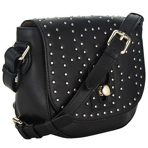 Buy Somerset by Alice Temperley Berkley Leather Saddle Bag, Black Online at johnlewis.com