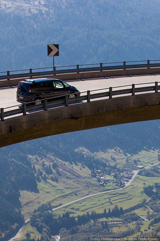 Gotthard Pass in Switzerland