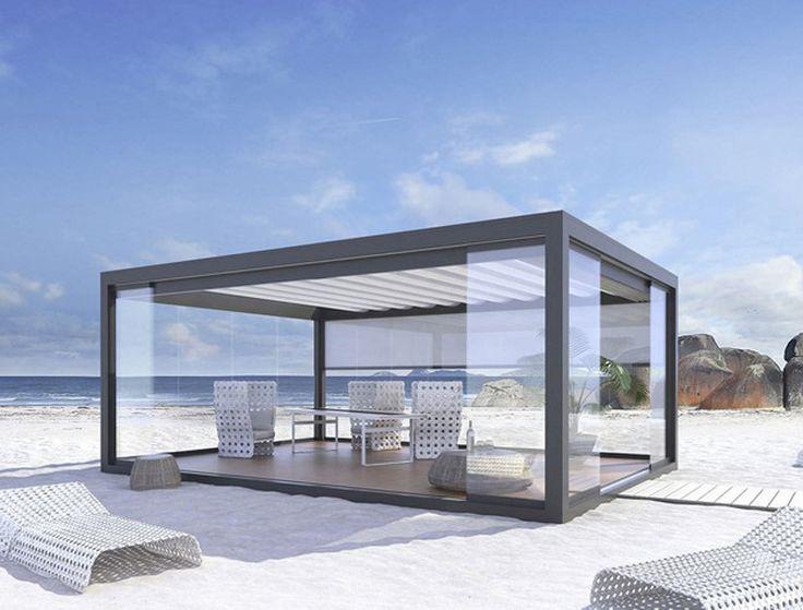 20 Aluminum Pergola Design Ideas | https://www.designrulz.com/design/2015/07/20-aluminum-pergola-design-ideas/