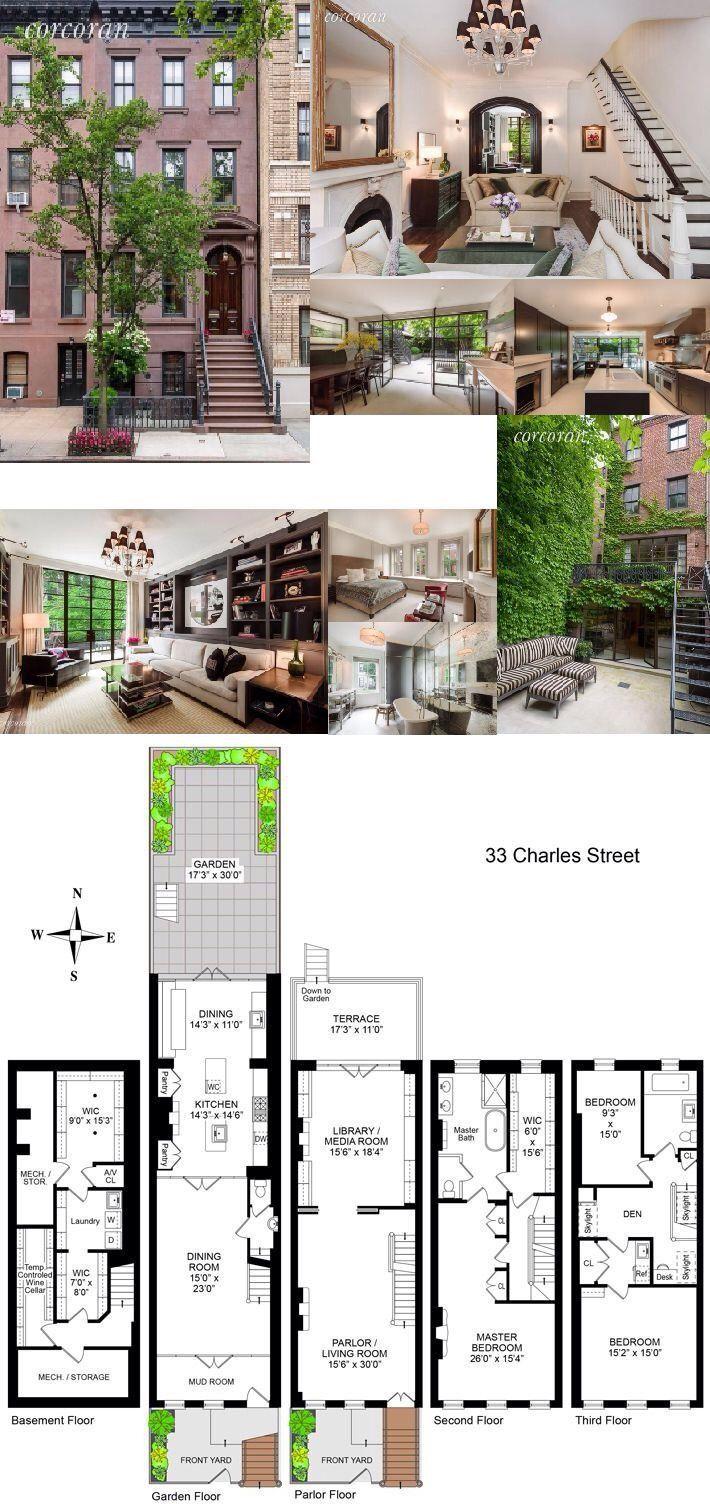 Pin By Annaterheide On Planos Arquitectonicos Town House Floor Plan West Village Townhouse Luxury Plan