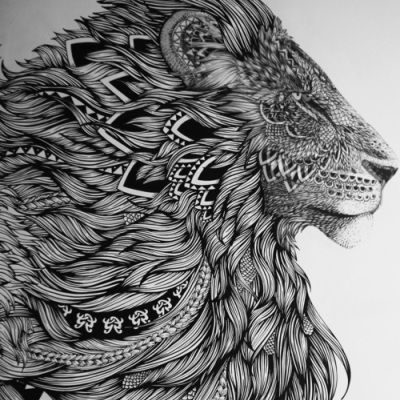 Lion tattoo design Thinking about this for a guitar etching.     http://eclipcity.com