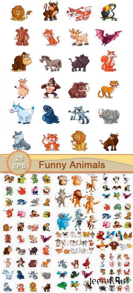 Клипарт - Смешные изображения животных