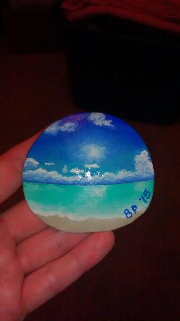 Beachy sand dollar magnet! (Handpainted by Brenda Preston)