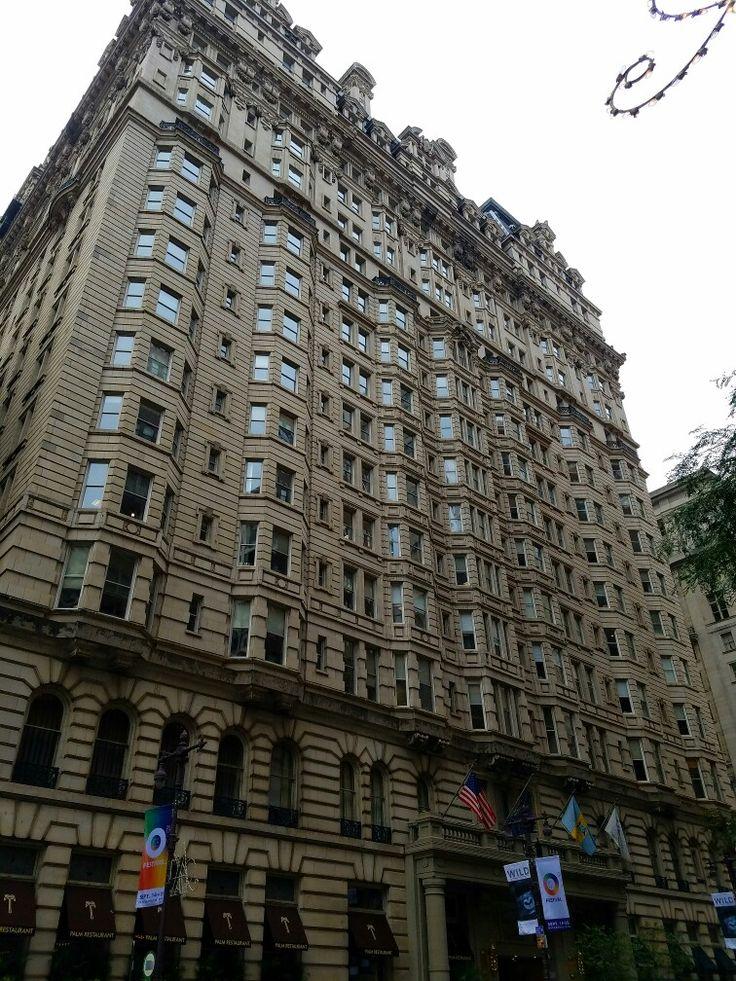 The Bellevue-Stratford Hotel (currently known as Hyatt at the Bellevue) on Broad Street at its intersection with Walnut Street in downtown Philadelphia. The building was opened in 1904 and currently houses not only the hotel, but also businesses offices, a selection of high-end shops, and a subterranean level food court.