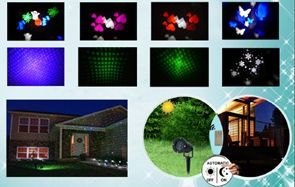 Remote Control 2 in 1 Firefly Laser Christmas and LED Garden Light wit
