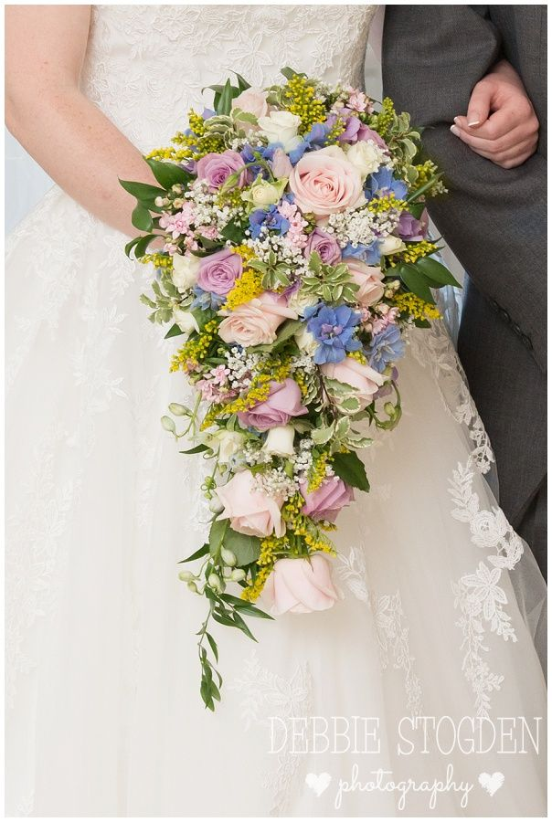 Tear drop #wedding #bouquet from The Countryside Florist, Skelton