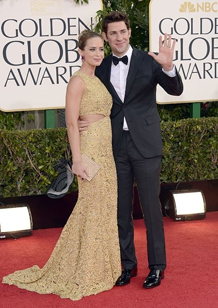 Emily Blunt and John Krasinksi are the perfect couple! #GoldenGlobes