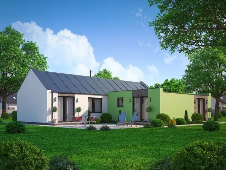 Murovaný dom začína ako dvojizbový so 71 m2 úžitkovej plochy. Neskôr ho možno zväčšiť o ďaľšie dve alebo tri izby až na 122 m2 úžitkovej plochy. Strecha môže byť pultová alebo sedlová. V ponuke nájdete i poschodový dom.
