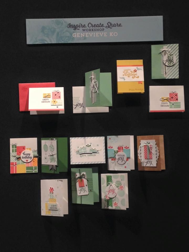 Stampin Up Christmas Craft Fair Ideas Part - 38: Make And Take Workshop, Convention 2015 #stampinup #InspireCreateShare |  New Christmas Stamp Set