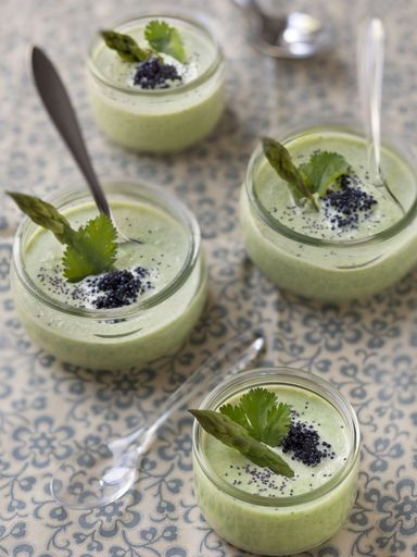 Crème d'asperges en verrines : Recette de Crème d'asperges en verrines - Marmiton