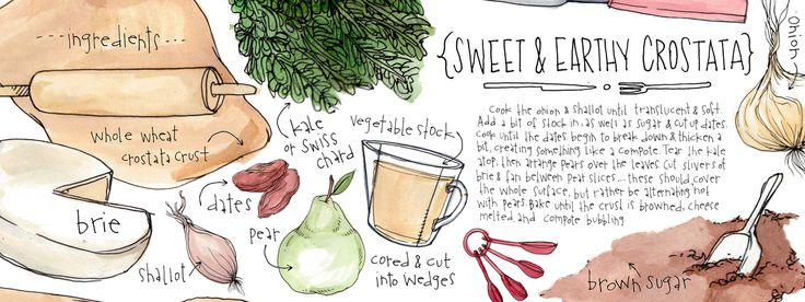 On A Whim: Sweet & Earthy Crostata by Lucy Engelman - They Draw & Cook