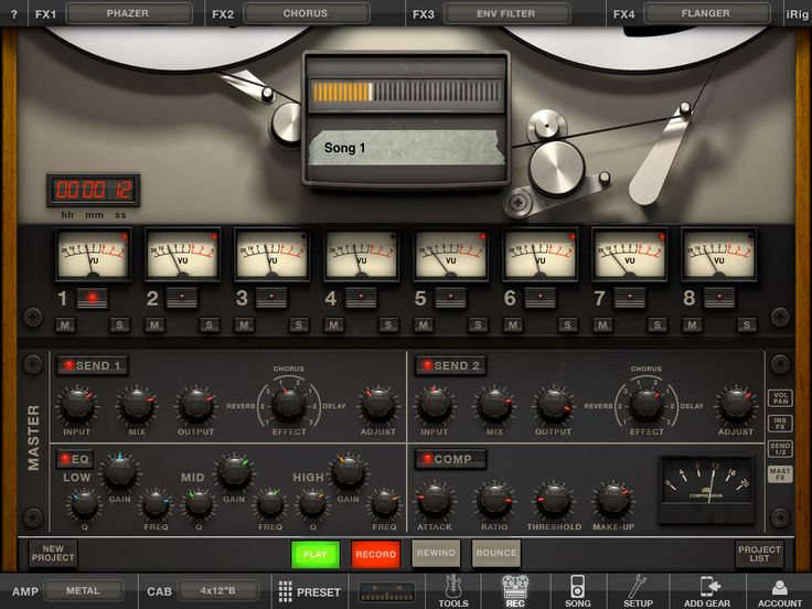 "Amplitube iPad UI ""mothership"" controls"
